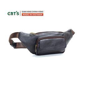 Túi bao tử CNT unisex TĐX 55 đeo được 2 kiểu năng động NÂU giá sỉ