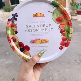 Kẹo trái cây Rinda thập cẩm hộp thiếc giá sỉ