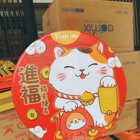 Bánh mèo thần tài hộp 2 tầng siêu đẹp kèm túi sang chãnh giá sỉ