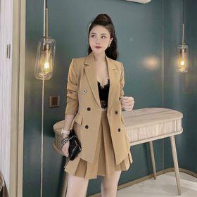 Sét váy vest kiểu phối chân xếp ly giá sỉ
