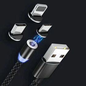 Cáp Sạc Điện Thoại Nam Châm 3 Đầu Samsung Iphone Type C giá sỉ