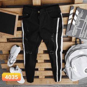 Quần jean nam đen viền dọc cao cấp giá sỉ