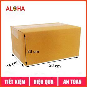 Hộp carton gói hàng size 30x25x20 giá sỉ