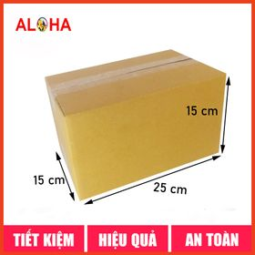 Hộp carton gói hàng size 25x15x15 giá sỉ