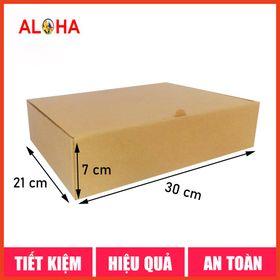 Hộp carton gói hàng size 30x21x7 giá sỉ