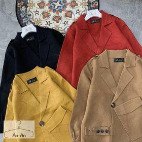 Áo khoác len ép kiểu túi chéo giá sỉ
