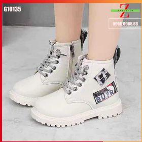 Giày Cao Cổ Bé Gái Bé Trai - Boot Lót Nhung Da Mềm Đi Êm Chân Cho Mùa Đông Ấm Áp Size 27 - 36 giá sỉ