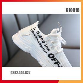 Giày Thể Thao Lưới Thoáng Khí Cho Trẻ Em Năng Động Dễ Phối Đồ Size 27-36 - G10918 giá sỉ
