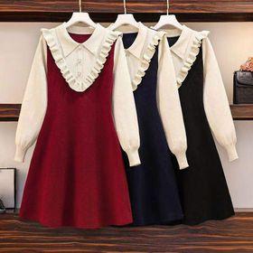 Đầm len xòe đông giá sỉ