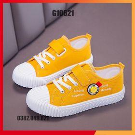 Giày Vải Canvas Hình Mặt Cười Cho Bé Trai Bé Gái Giày Thể Thao Kiểu Dáng Vỏ Sò Size 27-36 - G10621 giá sỉ