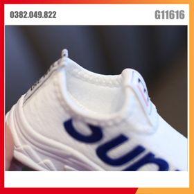 Giày Thể Thao Màu Trắng Lưới Thoáng Khí Cho Trẻ Em Vải Co Giãn Thao Tác Nhanh Mềm Có Thể Gập Dễ Dàng Size 27-32 - G11710 giá sỉ
