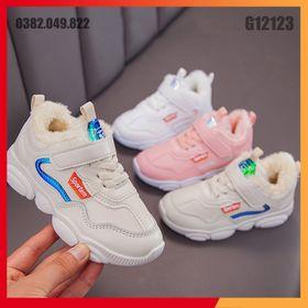Giày Sneaker Học Sinh Bề Mặt Da Chống Bụi Bẩn Dáng Thể Thao Đế Chống Trơn Trượt Size 26-36 - G12123 giá sỉ