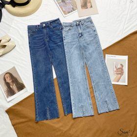Quần jeans xuông kiểu xẻ gấu giá sỉ