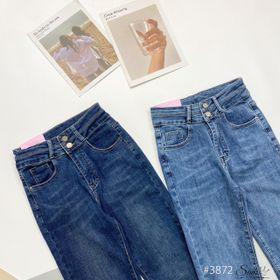 Quần jeans kiểu 2 khuy ống đứng giá sỉ