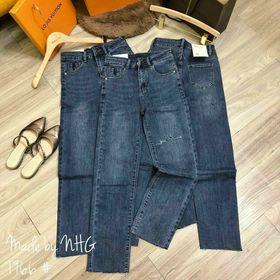 Quần jeans ống đứng cạp cao giá sỉ