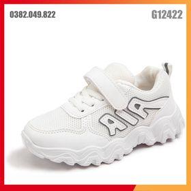 Giày Sneaker Bé Trai Bé Gái Lưới Thoáng Khí Quai Dán Hiện Đại Đế Chống Trơn Trượt Phong Cách Hàn Quốc Dễ Thương Size 28-37 - G12422 giá sỉ