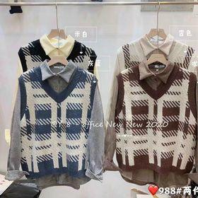 Sét áo len phối áo gile giá sỉ