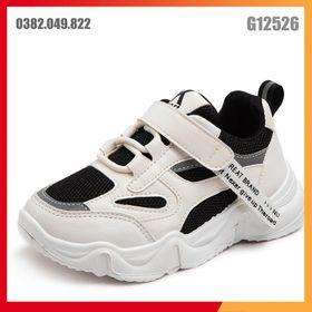 Giày Sneaker Trẻ Em Phong Cách Hàn Quốc Bề Mặt Da Đế Chống Trơn Trượt Size 27-36 - G12526 giá sỉ