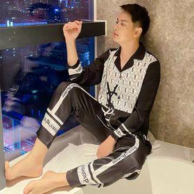 Đồ ngủ đồ mặc nhà tdqd pijama Nam size 2XL chất lụa Quảng Đông giá sỉ