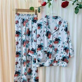 Đồ ngủ đồ mặc nhà pijama tdqd cánh dơi túi đôi chất lụa cao cấp giá sỉ