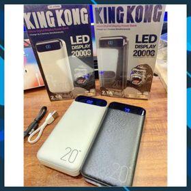 Sạc dự phòng 20000mah KingKong - WP168 hỗ trợ sạc nhanh có 2 cổng USB, 1 cổng micro, 1 cổng typec giá sỉ