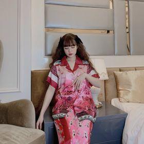 Đồ ngủ đồ mặc nhà tnqd Hạc đỏ chất lụa quảng đông giá sỉ