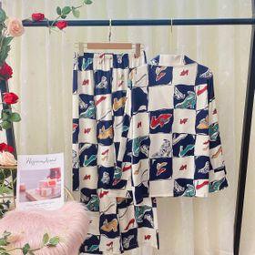 Đồ ngủ đồ mặc nhà tdqd Đôi giày chất lụa in 3D hàng quảng đông giá sỉ