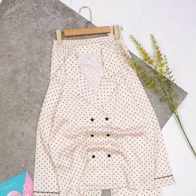 Đồ ngủ đồ mặc nhà tdqd Bi 4 nút chất lụa quãng đông giá sỉ
