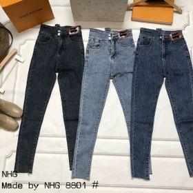 Quần jeans skinny cạp cúc lệch giá sỉ