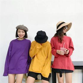 Áo Thun Teen Basic Tay Dài Nhiều Màu giá sỉ