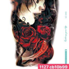 Hình xăm nước cô gái có hoa hồng giá sỉ