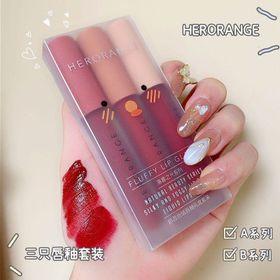 Set 3 Cây Son Kem Lì Herorange Fluffy Lip Glaze hàng nội địa Trung giá sỉ