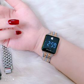 Đồng hồ nam nữ led style iphone dây kim loại đẹp mê ly giá sỉ