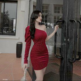 Đầm body lệch vai giá sỉ