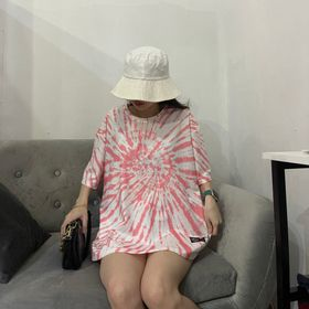 áo thun tay lỡ màu loang free size nữ giá sỉ