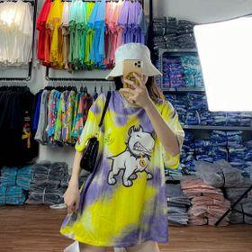 Áo thun teen nam nữ - áo loang màu free size giá sỉ