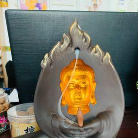 thác khói trầm hương mặt phật 3D để bàn giá sỉ