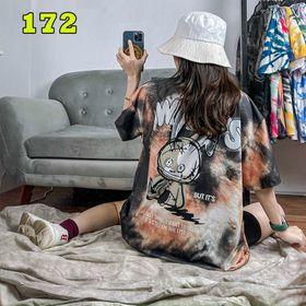Áo loang màu, áo thun free size nữ giá sỉ