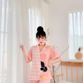 Đồ ngủ đồ mặc nhà tnqd phối Hello chất lụa quảng châu giá sỉ