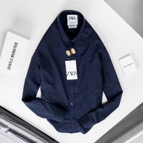 áo sơ mi xanh đen cao cấp giá sỉ