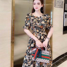 Đầm hoa xòe kiểu giá sỉ
