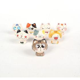 Tượng mèo gốm trang trí, Lễ hội mèo 6 mẫu, Tượng Thú decor giá sỉ