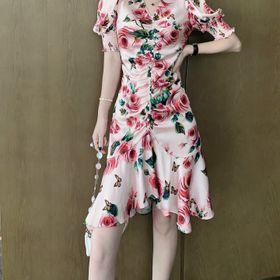 Đầm lụa hoa nhí D98615 - Kho sỉ giá sỉ