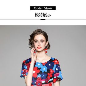 Đầm hoa cao cấp D09175- Kho sỉ giá sỉ