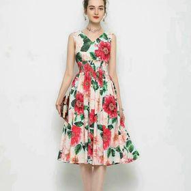 Đầm hoa xoè cao cấp D91875 - Kho sỉ giá sỉ