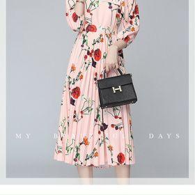 Đầm hoa cổ nơ D98164 - Kho sỉ giá sỉ