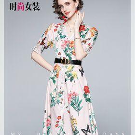 Đầm hoa xoè D97165 - Kho sỉ giá sỉ