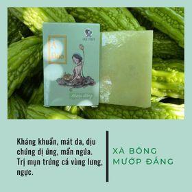[100% THIÊN NHIÊN] Xà Bông Ả Đào Mướp Đắng Handmade Mộc Nhan Dành Cho Da Mụn, T.rị Viêm Chân Lông giá sỉ