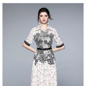 Đầm luạ hoạ tiết cao cấp D91865 - Kho sỉ giá sỉ