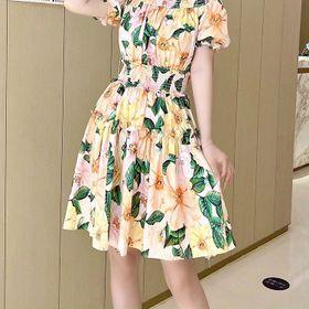 Đầm hoa hở vai D08176 - Kho sỉ giá sỉ